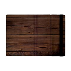 Rustic Dark Brown Wood Wooden Fence Background Elegant Ipad Mini 2 Flip Cases by yoursparklingshop