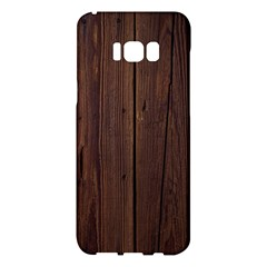 Rustic Dark Brown Wood Wooden Fence Background Elegant Natural Country Style Samsung Galaxy S8 Plus Hardshell Case  by yoursparklingshop