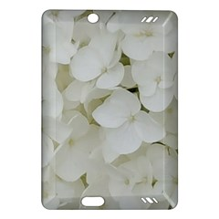 Hydrangea Flowers Blossom White Floral Elegant Bridal Chic Amazon Kindle Fire Hd (2013) Hardshell Case by yoursparklingshop