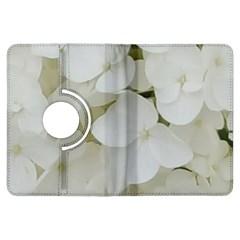 Hydrangea Flowers Blossom White Floral Elegant Bridal Chic Kindle Fire Hdx Flip 360 Case by yoursparklingshop