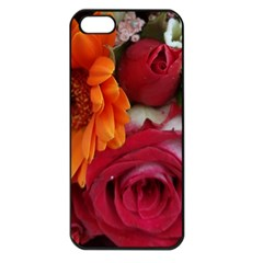 Floral Photography Orange Red Rose Daisy Elegant Flowers Bouquet Apple Iphone 5 Seamless Case (black) by yoursparklingshop