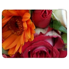 Floral Photography Orange Red Rose Daisy Elegant Flowers Bouquet Samsung Galaxy Tab 7  P1000 Flip Case by yoursparklingshop