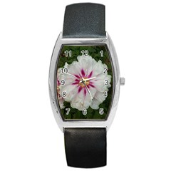 Floral Soft Pink Flower Photography Peony Rose Barrel Style Metal Watch by yoursparklingshop