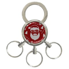 Ugly Christmas Sweater 3 Ring Key Chains by Valentinaart