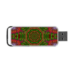 Feathers And Gold In The Sea Breeze For Peace Portable Usb Flash (two Sides) by pepitasart