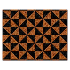Triangle1 Black Marble & Teal Leather Rectangular Jigsaw Puzzl by trendistuff