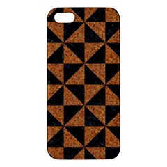 Triangle1 Black Marble & Teal Leather Iphone 5s/ Se Premium Hardshell Case by trendistuff