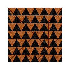 Triangle2 Black Marble & Teal Leather Acrylic Tangram Puzzle (6  X 6 ) by trendistuff