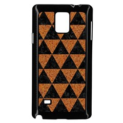 Triangle3 Black Marble & Teal Leather Samsung Galaxy Note 4 Case (black) by trendistuff