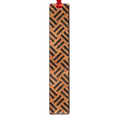 Woven2 Black Marble & Teal Leather Large Book Marks by trendistuff