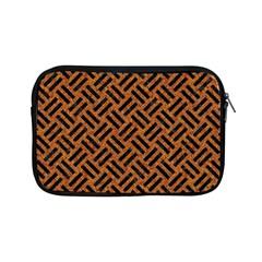 Woven2 Black Marble & Teal Leather Apple Ipad Mini Zipper Cases by trendistuff