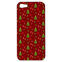 Christmas Pattern Apple Iphone 5 Hardshell Case by Valentinaart