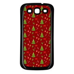 Christmas Pattern Samsung Galaxy S3 Back Case (black) by Valentinaart