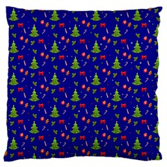 Christmas Pattern Large Cushion Case (one Side) by Valentinaart