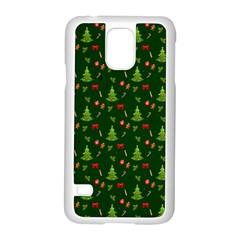 Christmas Pattern Samsung Galaxy S5 Case (white) by Valentinaart