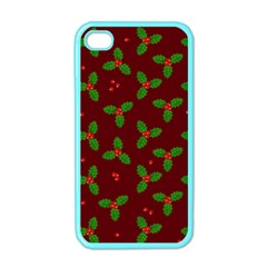 Christmas Pattern Apple Iphone 4 Case (color) by Valentinaart