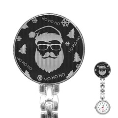 Ugly Christmas Sweater Stainless Steel Nurses Watch by Valentinaart