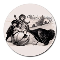 Vintage Thanksgiving Round Mousepads by Valentinaart