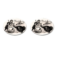 Vintage Thanksgiving Cufflinks (oval) by Valentinaart