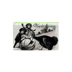 Vintage Thanksgiving Cosmetic Bag (xs) by Valentinaart
