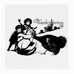 Vintage Thanksgiving Medium Glasses Cloth by Valentinaart