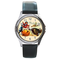 Vintage Thanksgiving Round Metal Watch by Valentinaart