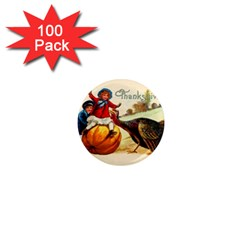 Vintage Thanksgiving 1  Mini Magnets (100 Pack)  by Valentinaart