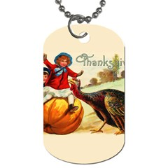 Vintage Thanksgiving Dog Tag (one Side) by Valentinaart
