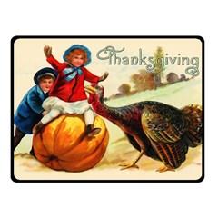 Vintage Thanksgiving Fleece Blanket (small) by Valentinaart