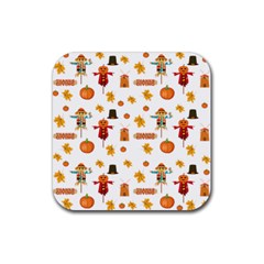 Thanksgiving Rubber Square Coaster (4 Pack)  by Valentinaart