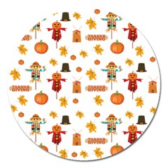Thanksgiving Magnet 5  (round) by Valentinaart