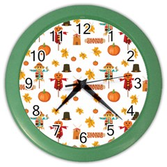 Thanksgiving Color Wall Clocks by Valentinaart