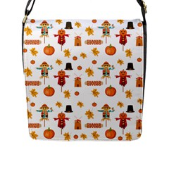 Thanksgiving Flap Messenger Bag (l)  by Valentinaart