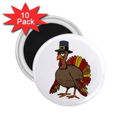 Thanksgiving Turkey  2 25  Magnets (10 Pack)  by Valentinaart