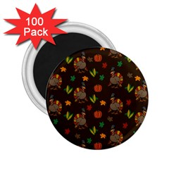 Thanksgiving Turkey  2 25  Magnets (100 Pack)  by Valentinaart