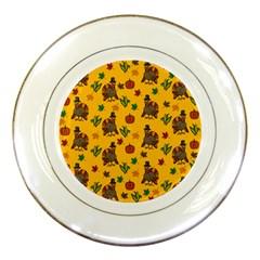 Thanksgiving Turkey  Porcelain Plates by Valentinaart