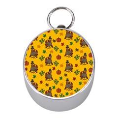 Thanksgiving Turkey  Mini Silver Compasses by Valentinaart