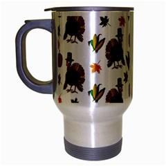Thanksgiving Turkey  Travel Mug (silver Gray) by Valentinaart