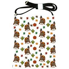 Thanksgiving Turkey  Shoulder Sling Bags by Valentinaart