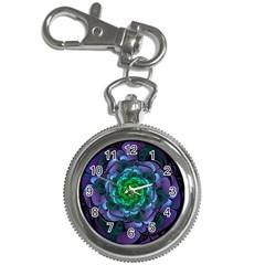 Beautiful Purple & Green Aeonium Arboreum Zwartkop Key Chain Watches by beautifulfractals