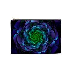 Beautiful Purple & Green Aeonium Arboreum Zwartkop Cosmetic Bag (medium)  by jayaprime