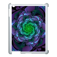 Beautiful Purple & Green Aeonium Arboreum Zwartkop Apple Ipad 3/4 Case (white) by beautifulfractals