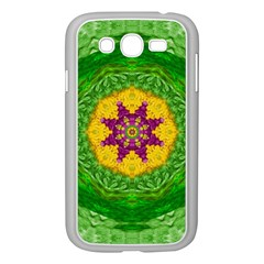 Feathers In The Sunshine Mandala Samsung Galaxy Grand Duos I9082 Case (white) by pepitasart