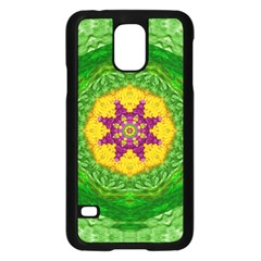 Feathers In The Sunshine Mandala Samsung Galaxy S5 Case (black) by pepitasart