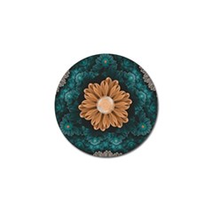 Beautiful Paradise Chrysanthemum Of Orange And Aqua Golf Ball Marker (10 Pack) by beautifulfractals