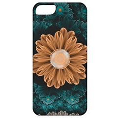 Beautiful Paradise Chrysanthemum Of Orange And Aqua Apple Iphone 5 Classic Hardshell Case by beautifulfractals