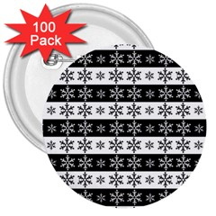 Snowflakes   Christmas Pattern 3  Buttons (100 Pack)  by Valentinaart