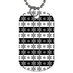Snowflakes   Christmas Pattern Dog Tag (two Sides) by Valentinaart
