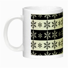 Snowflakes   Christmas Pattern Night Luminous Mugs by Valentinaart