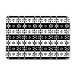 Snowflakes   Christmas Pattern Small Doormat  by Valentinaart